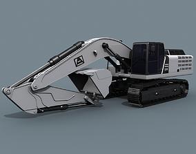 animated Your Excavator - 3d animated excavator model