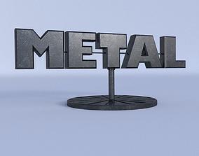 METAL Room decoration 3D asset