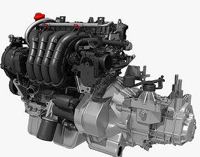 Engine with Transmission 3D model