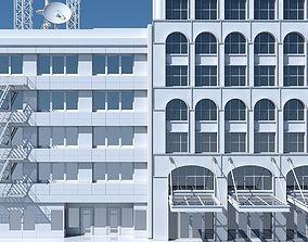3D model Commercial Building Facade 12