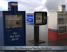 PBR Newspaper Vending Machines 3D asset