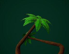 coconut tree handpainted 3D model