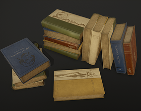 Old books - PBR Game Ready 3D asset