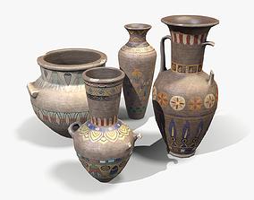3D model Egyptian Vases