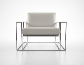 3D Milo Baughman Floating lounge chair