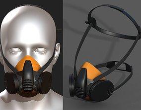 3D asset Gas mask protection respirator military combat