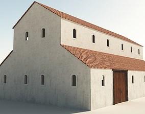 3D model Roman Barn