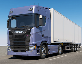 3D model SCANIA S730 With Trailer