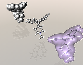 3D Cyproheptadine molecule