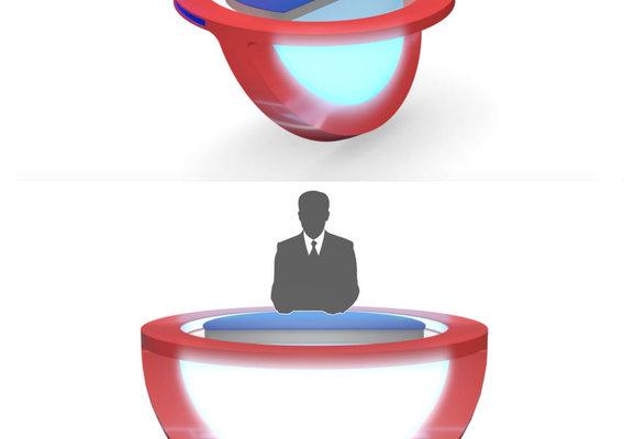 3D TV Studio News Desk 10