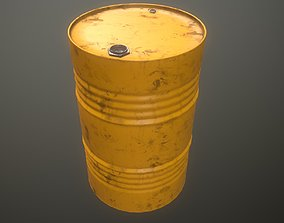 3D model game-ready industrial Oil drum