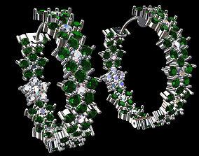 Brinco Argola Flores 3D print model