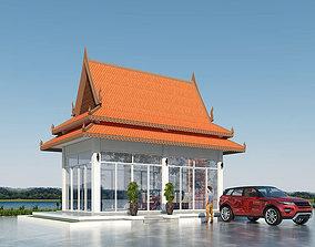 Kiosk Khmer Style restaurant 3D model