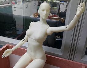woman BJD girl -ball Jointed doll 3D print model