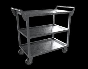 Stainless steel Heavy duty Cart 3D asset