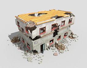 3D asset destroyed building 6