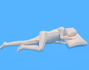 3D model Low Poly Kid Sleeping