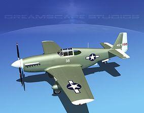 3D model North American P-51B Mustang V01