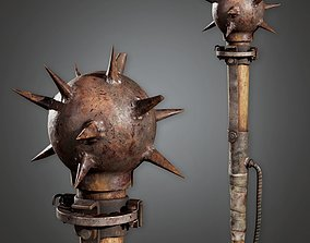 3D model Post Apocalyptic Mace - PAM - PBR Game Ready