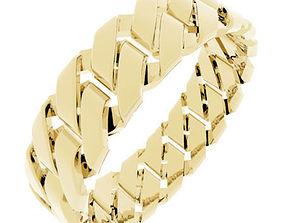 Chain Link Gents Ring - UK Size V 3D printable model