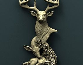 Deer 3d stl model for cnc other