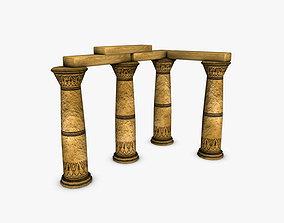 Egyptian Columns 3D