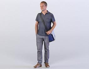 3D model Max 0168 Man carrying a bag