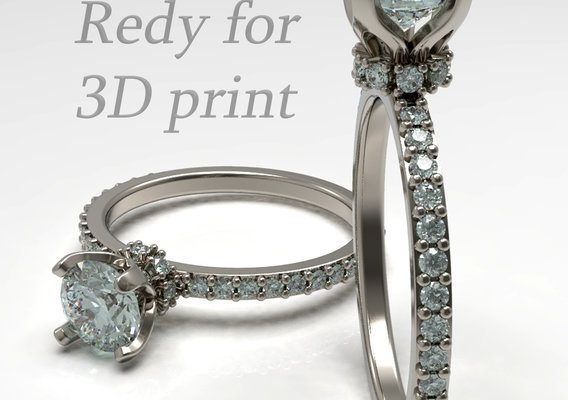 Engagement diamond ring. Ready for print. . .