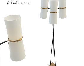 3D model Clarkson Triple Floor Lamp