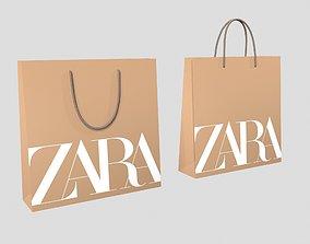 Zara Gift Packaging Paper Bags 3D model