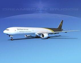 Boeing 777-300 MP UPS 3D model