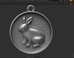 Rabit zodiac sign symbol 3d print model