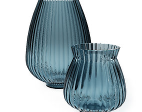 H and M - Blue Glass Vase 3D vray