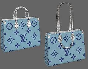 3D asset Louis Vuitton Bag Onthego Giant Monogram Blue 1