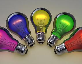 Lightbulb 3D electricity