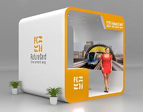 3D Future Card 3x3 kiosk