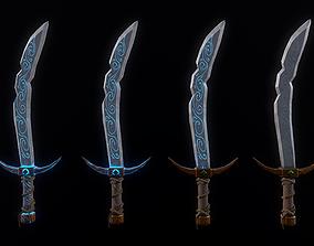 3D model Stylized Falchion Sword