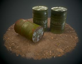 3D asset Military Barrel - PBR -