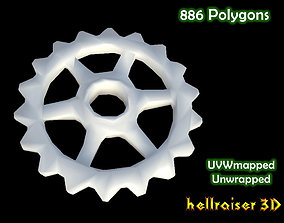 3D asset low-poly Gears