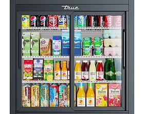 True Countertop Refrigerator 3D