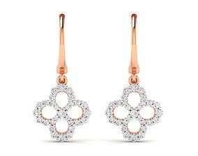 studs jewelry Women Earrings 3dm stl render detail