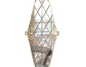 3D Seven Sedie Royale Mirror Sette