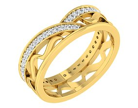engagement-ring 3D printable model Band Ring For Ladies