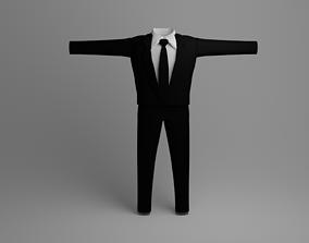 Simple Basic Men Suit 3D