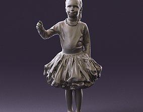 Girl in white sweater pink skirt 0920 3D Print