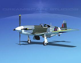 North American Mustang X RAF V02 3D