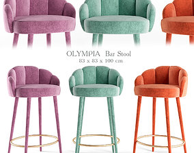 3D model Olympia Bar and Counter Stool