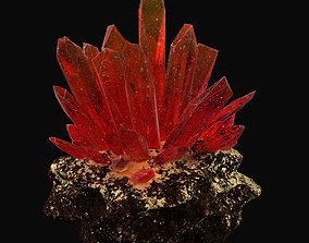 3D Red crystal