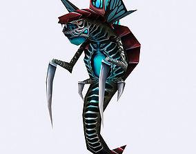 animated 3DRT - Insectoid Monster Snake