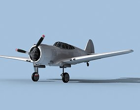 Curtiss P-36C Hawk Bare Metal 3D